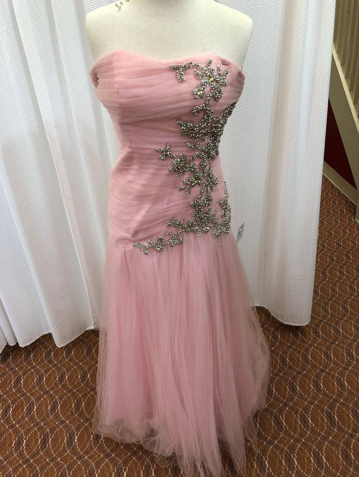 Bg M Sherri Hill pink prom dress