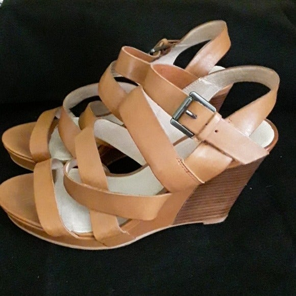 Bronx Strappy Wedge Sandal Shoes 40 (9)