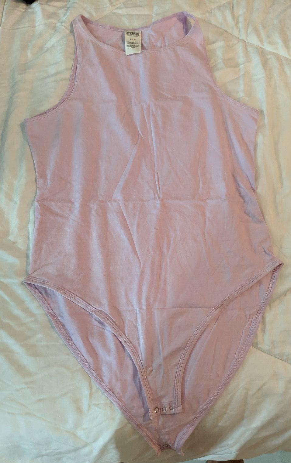 Lavender PINK/Victoria Secret Bodysuit L