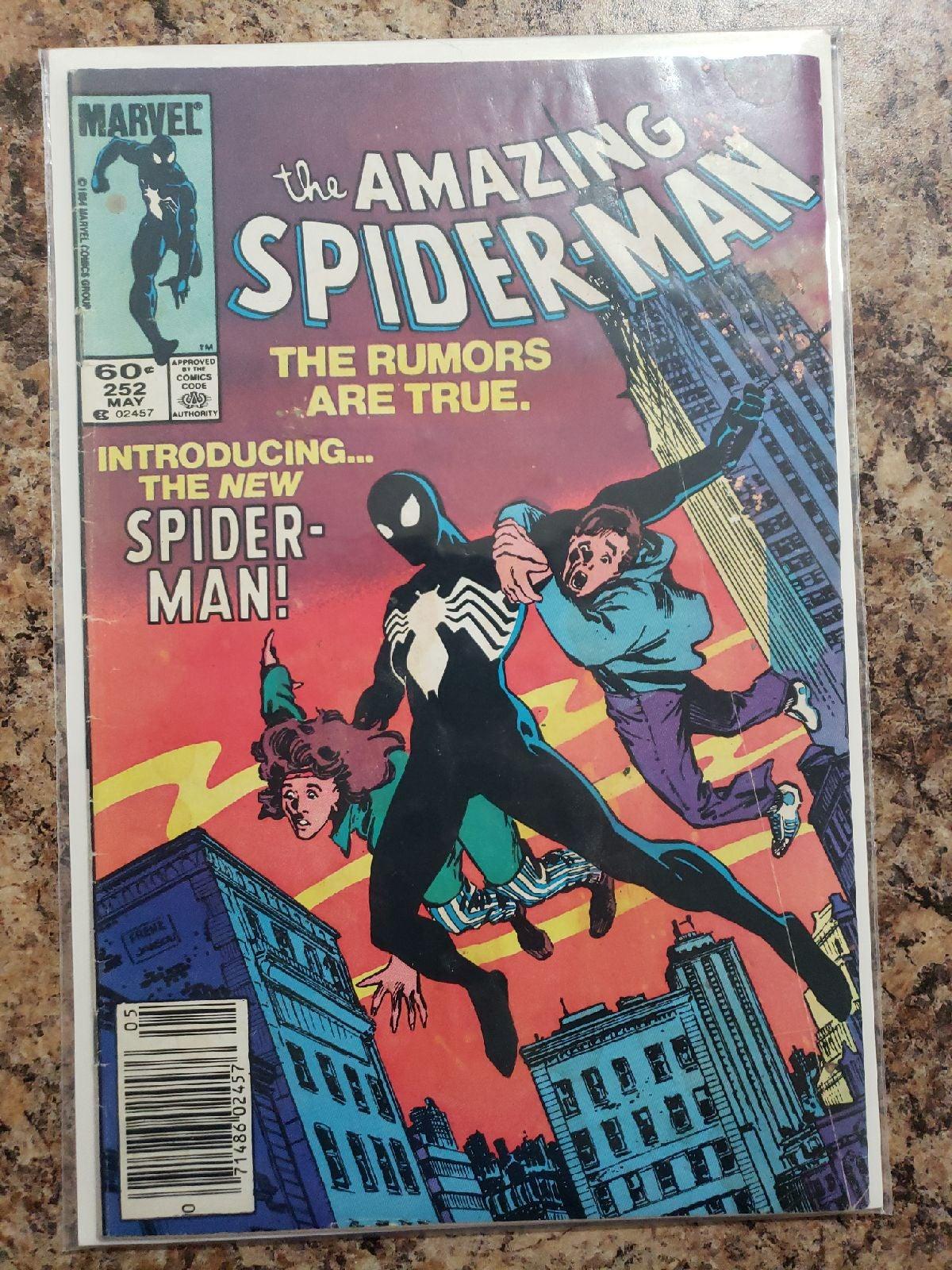Amazing Spider-Man 252 newsstand edition