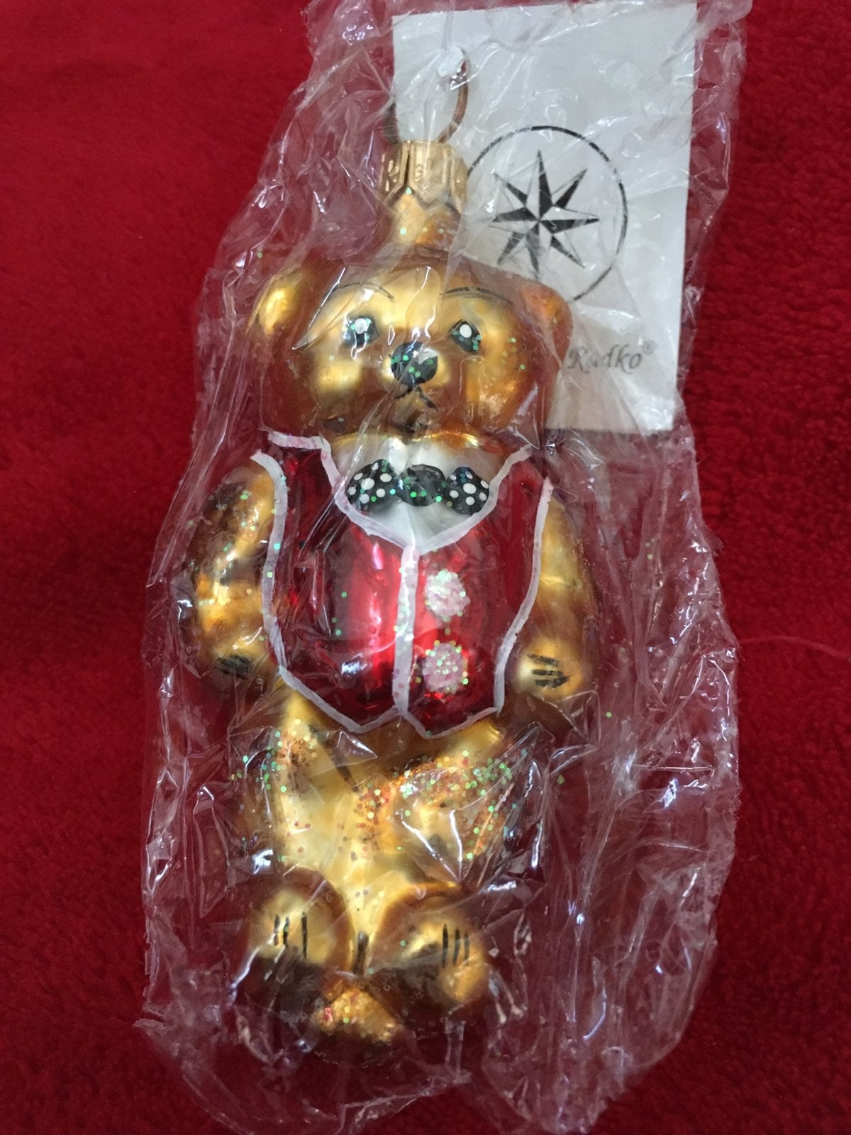 RARE 1996 Radko Bear Ornament