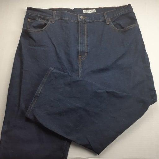 Cremieux Mens Relaxed Fit Jeans Size 46 Dark Wash Wide Leg Denim HEMMED