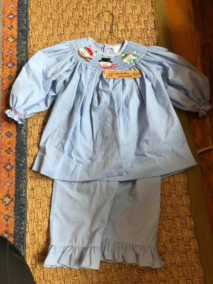 Smocked Girls Outfit