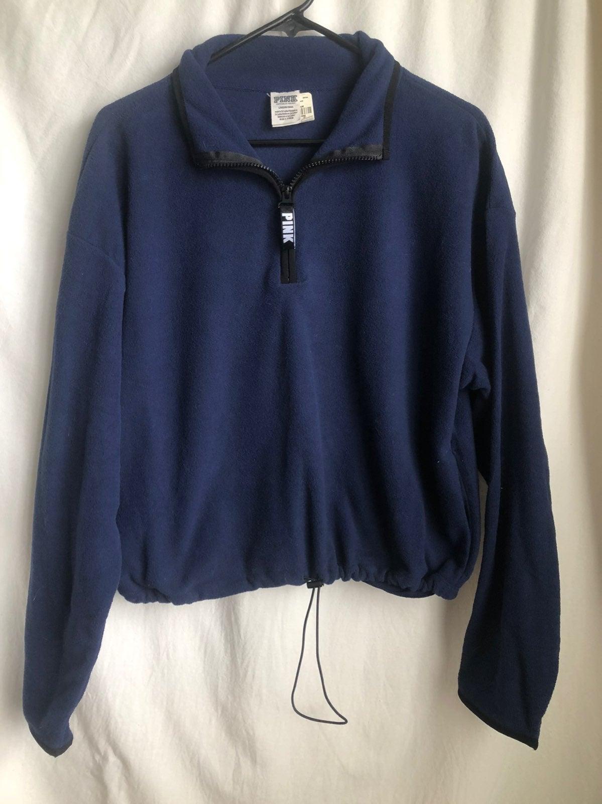 PINK fleece half-zip