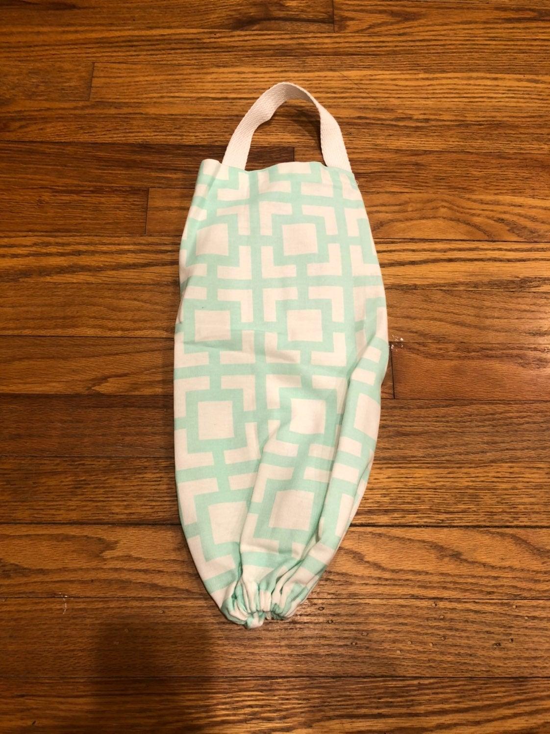 Handmade grocery bag holder