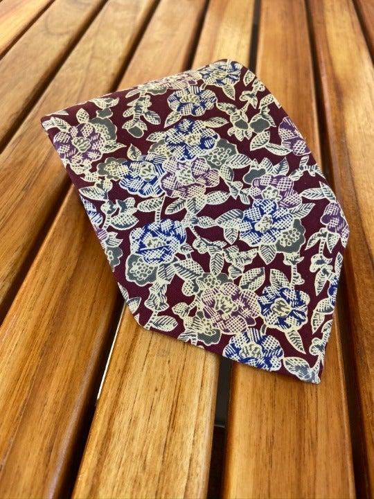 Vintage Christian Dior Floral Silk Tie