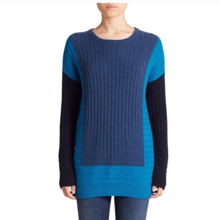 Vince xxs geometric cashmere sweater
