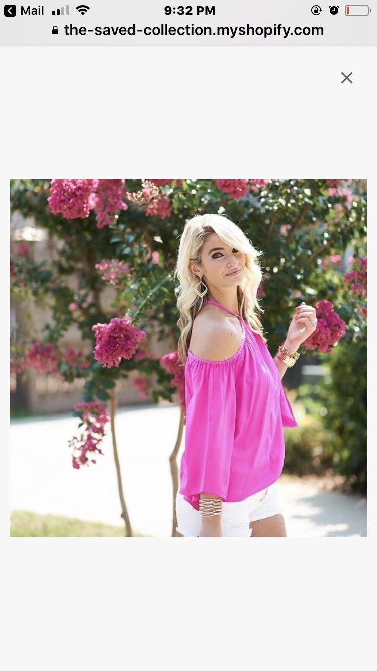 Alice & Trixie sz S pink strappy top NWT