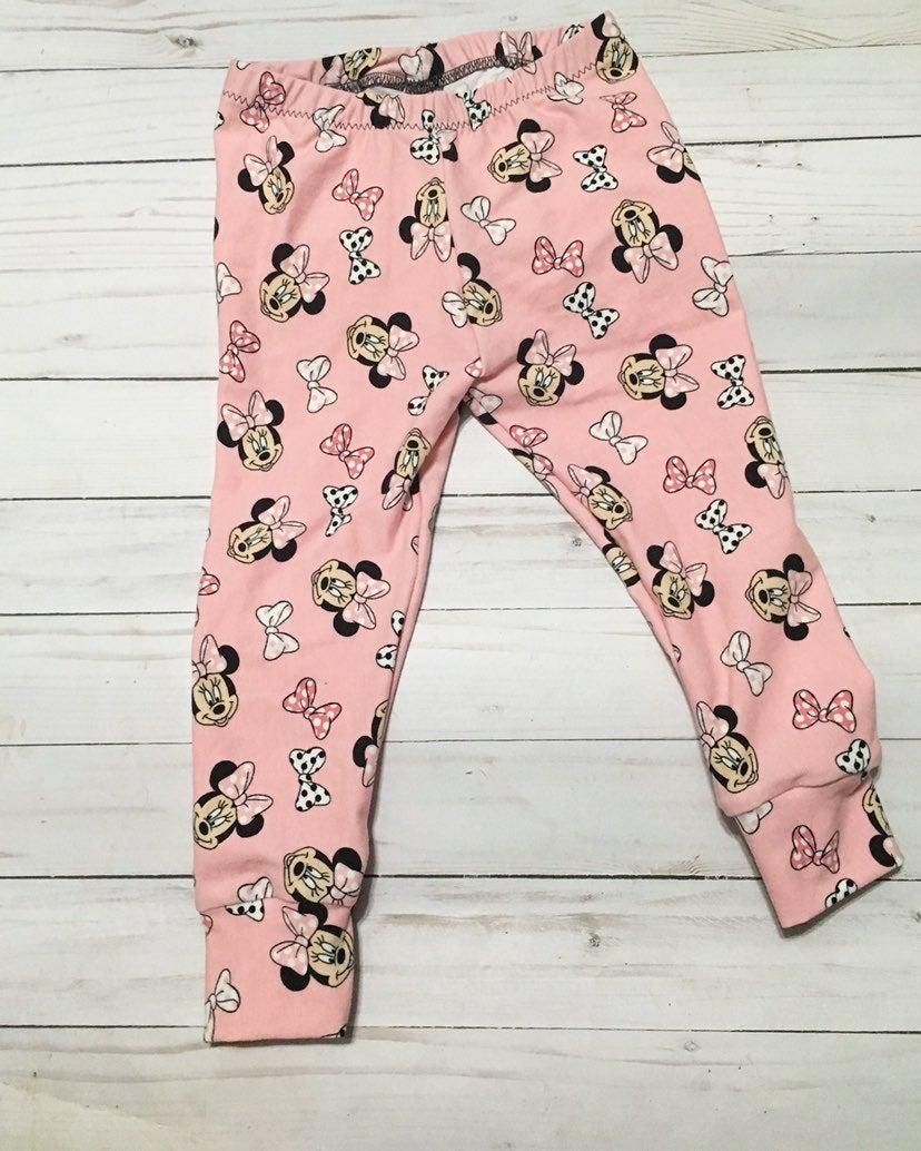 12-18M Minnie Mouse Cuffed Leggings. New