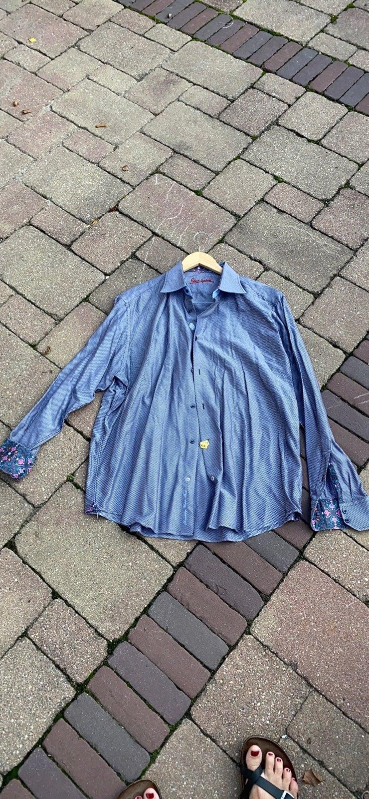 Robert Graham XL 17.5 Dress Shirt