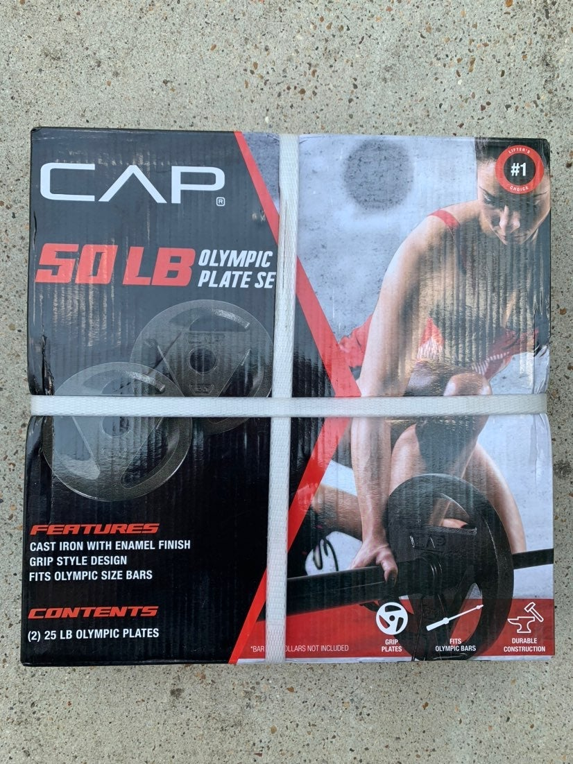 CAP (2) 25lb Olympic Weight Plates New