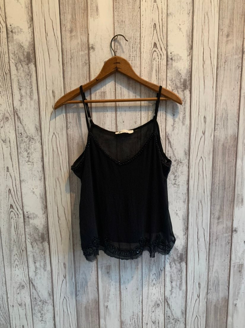 The Impeccable Pig black beaded tank