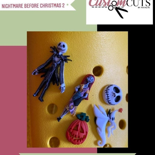 Nightmare before christmas croc pins set
