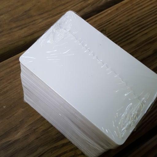 100 blank id badge cards