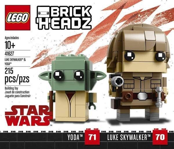 LEGO BrickHeadz Skywalker & Yoda 41627