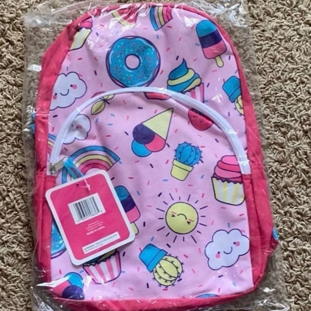 15 inches Girls Printed  Backpack