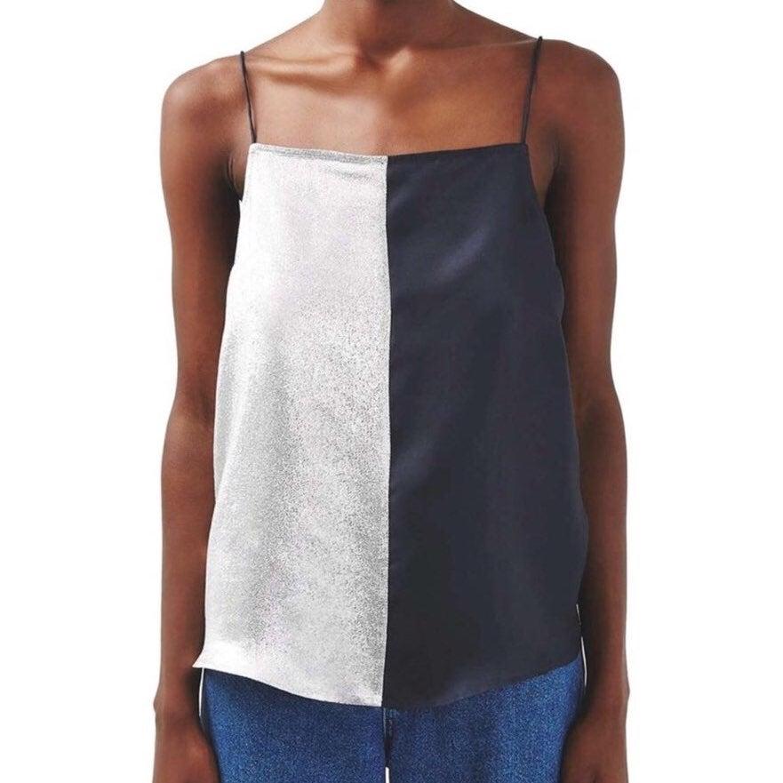 TOPSHOP Silk Colorblock Camisole