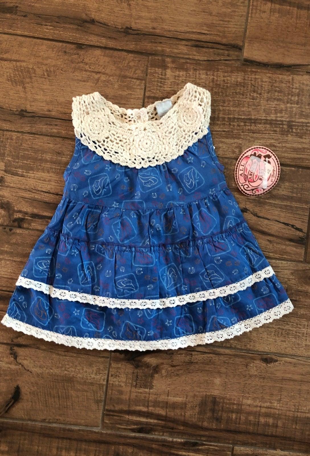 Cowboy Baby Girl Wrangler Dress 12M NWT