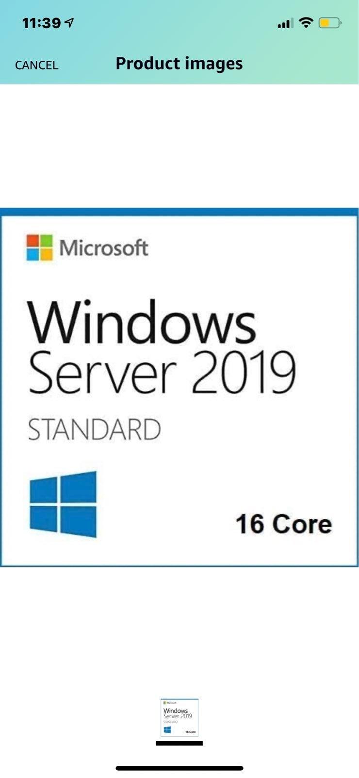 Server 2019 Stndard 16 CoreVersion 1809