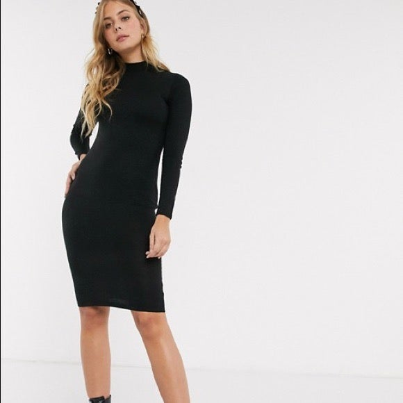 ASOS Brave Soul Black Long Sleeve Dress