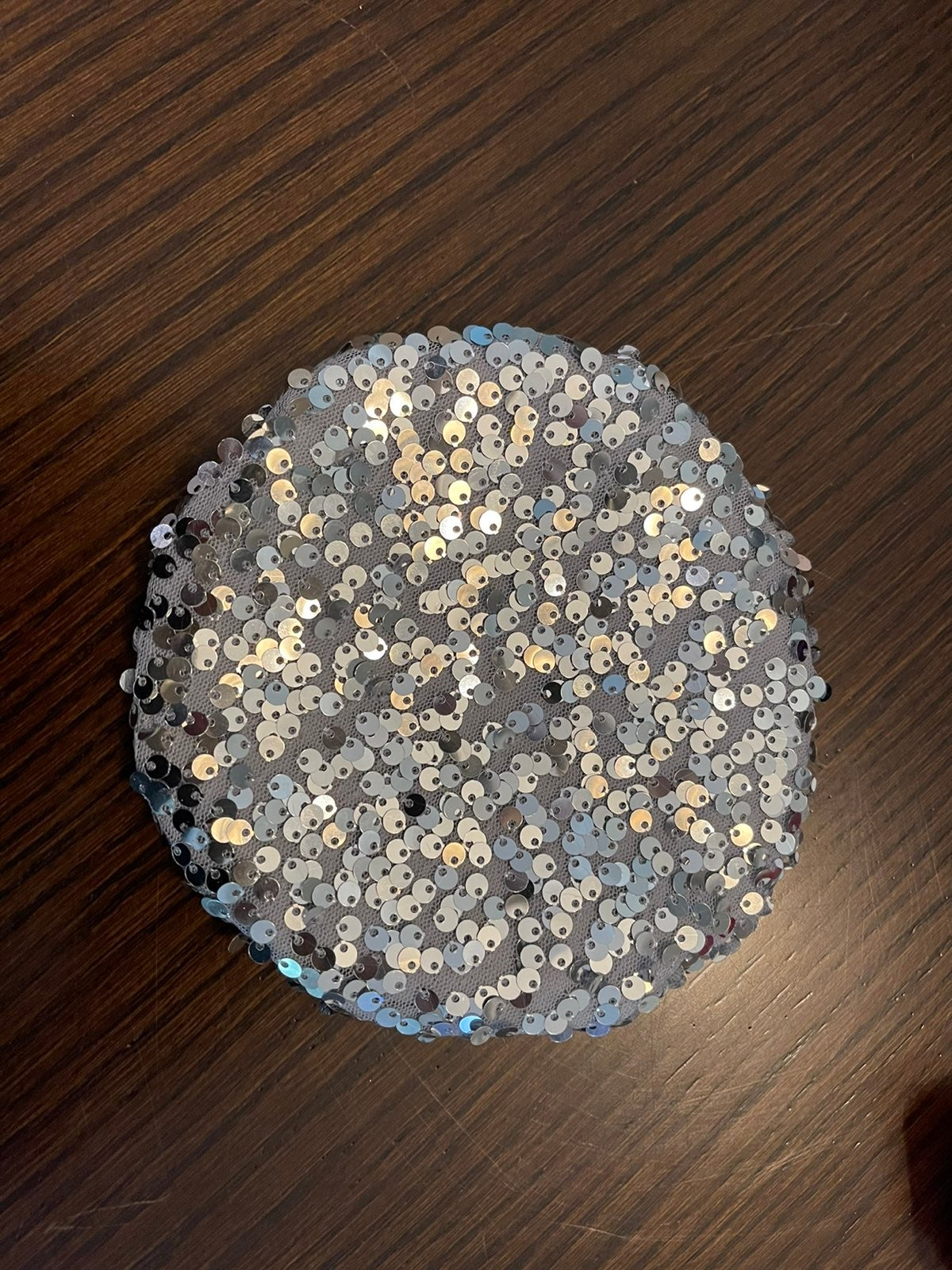 American girl sparkly silver beret