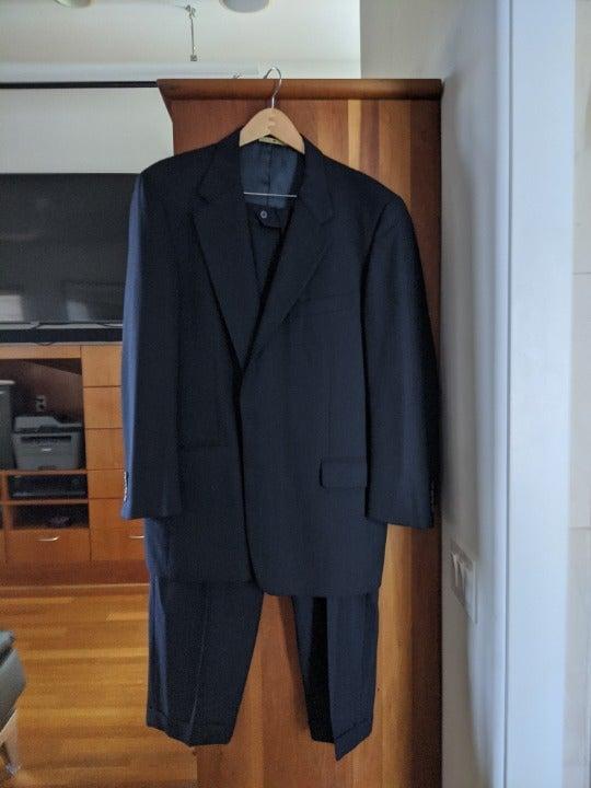 Joseph Abboud Navy Pinstriped suit-44L