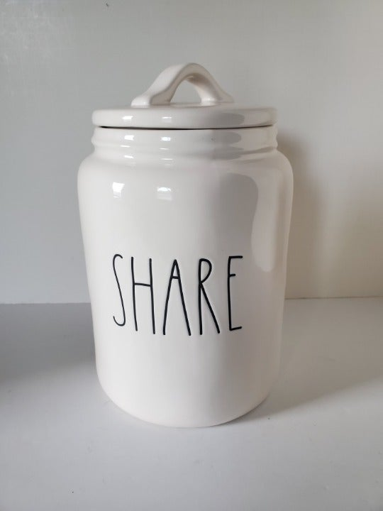 Rae Dunn Ceramic Canister with Lid