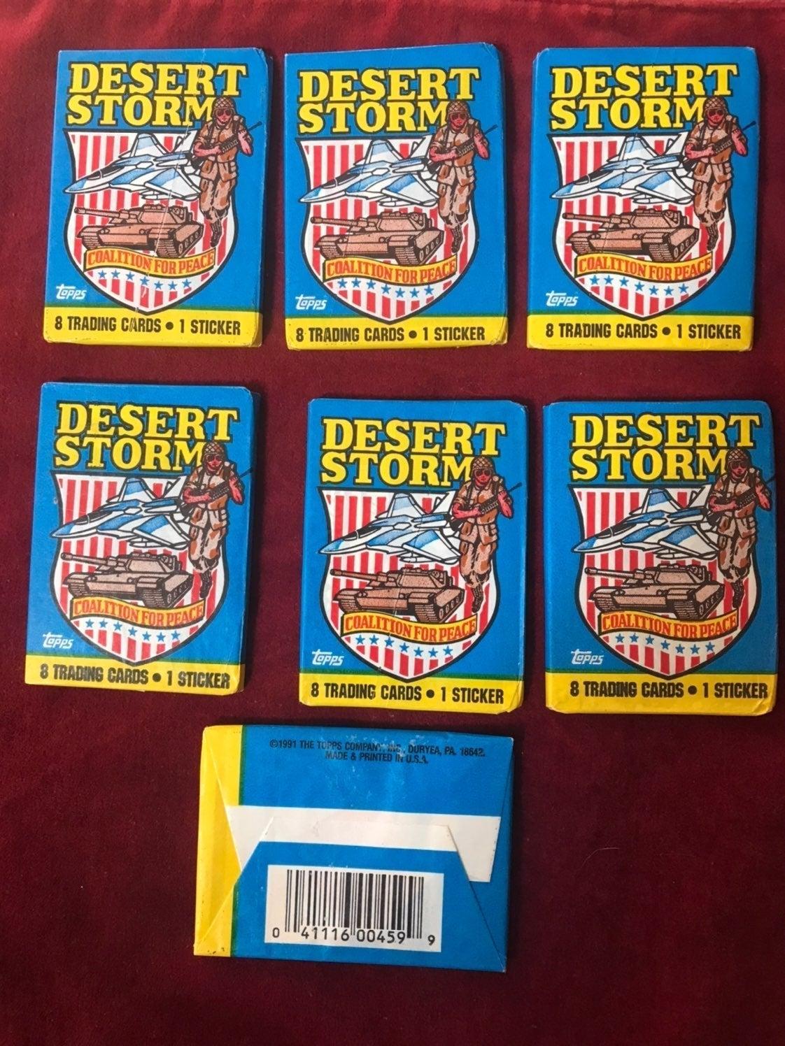 Topps 7 Desert Storm Trading Cards 1991