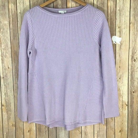 NWT J. Jill lavender ribbed sweater