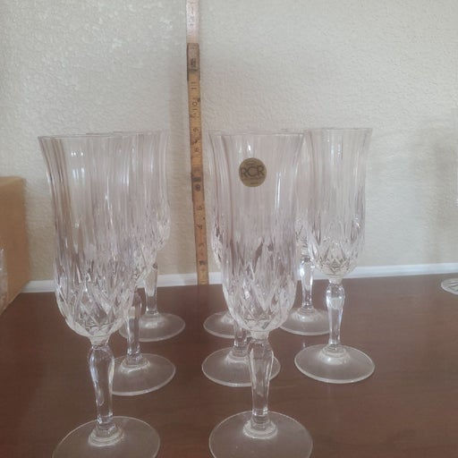 Set of eight glasses