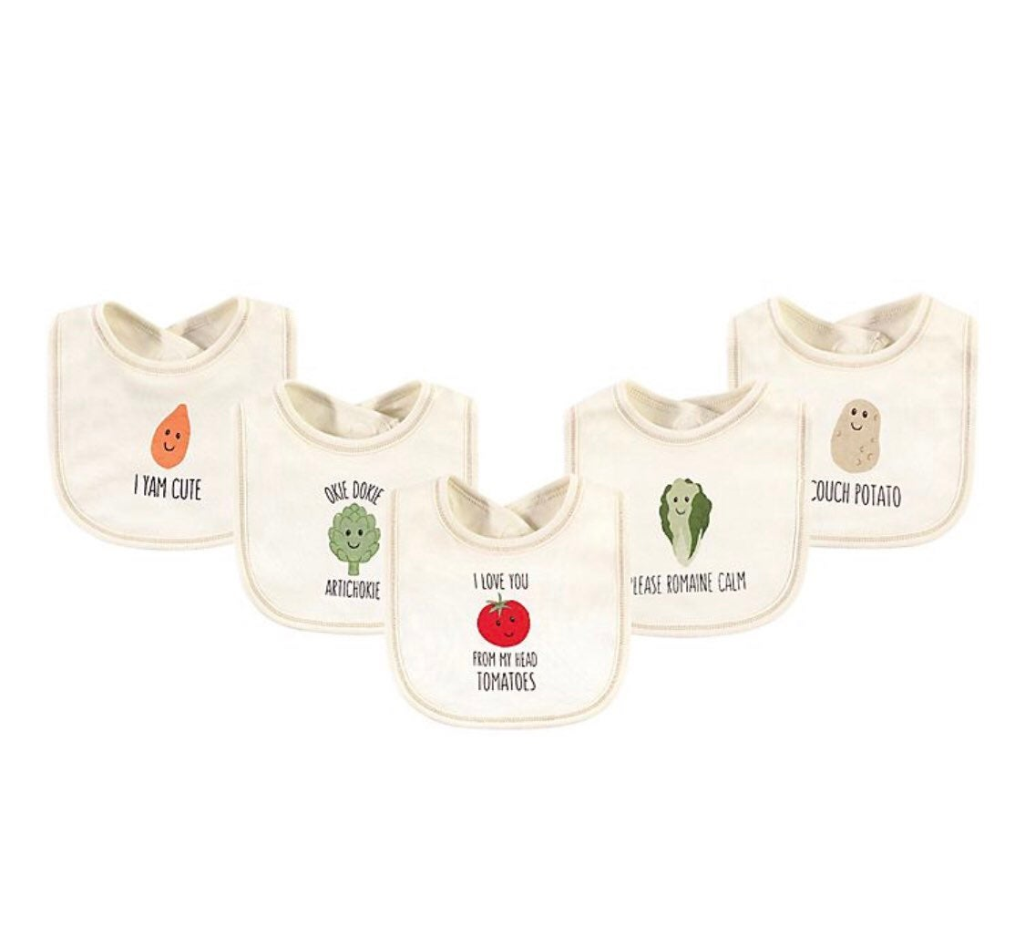 Touched by nature organic bibs