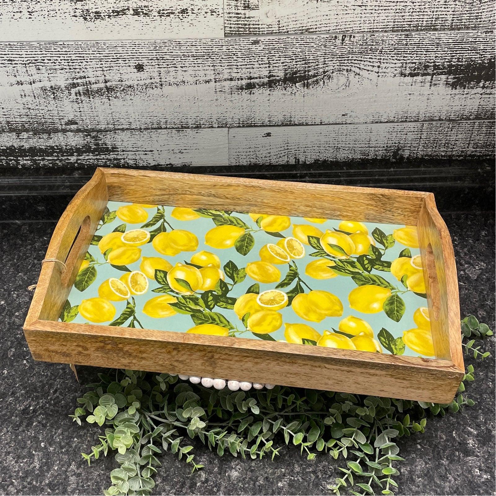 Wooden Lemon Serving Tray 4 Rae Dunn