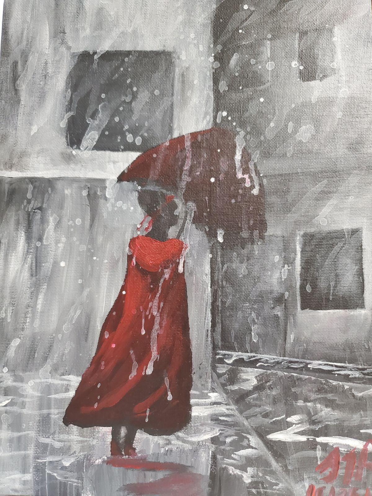 Monochromatic acrylic painting