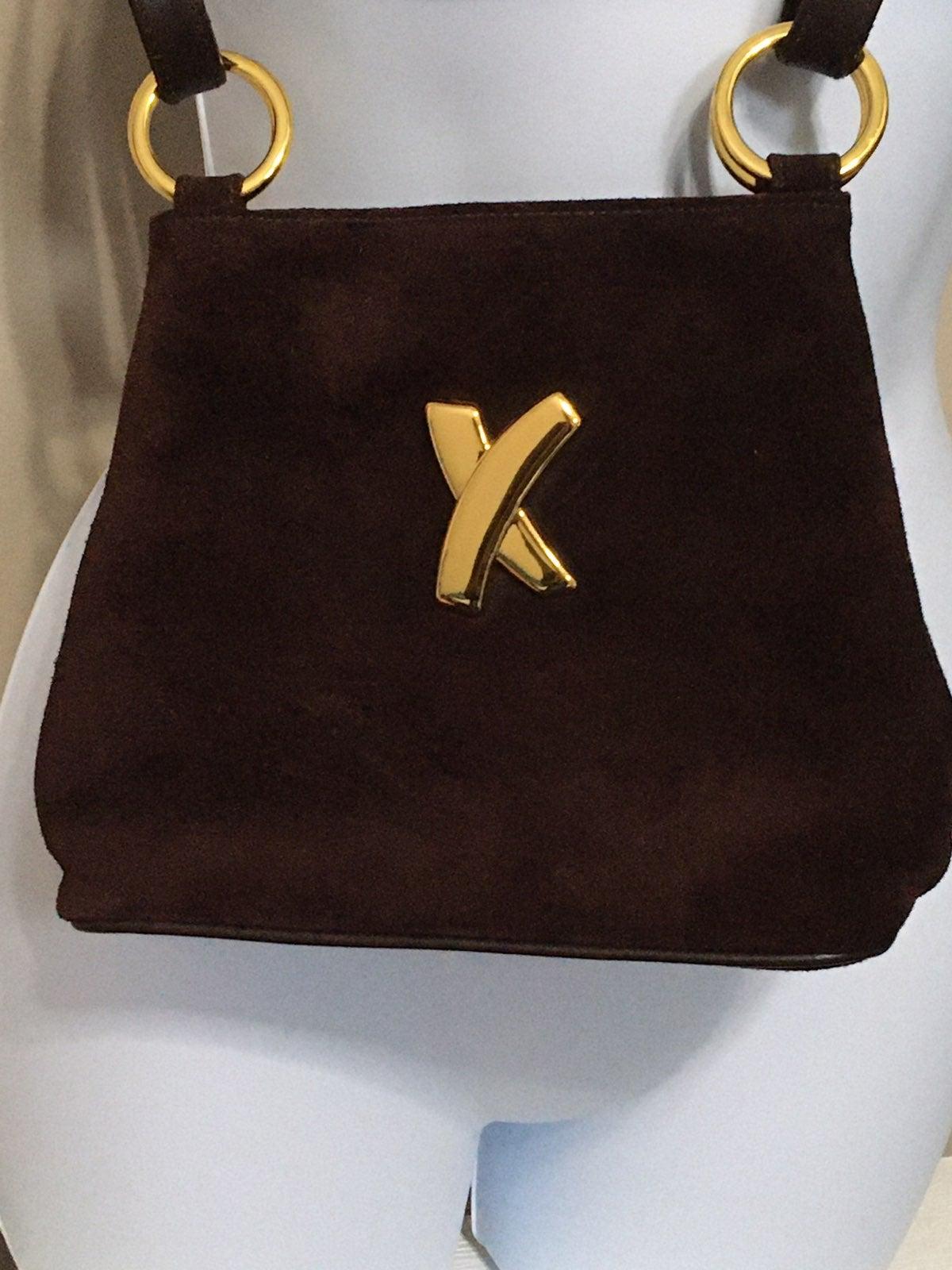 Brown Suede Crossbody/Shoulder Bag
