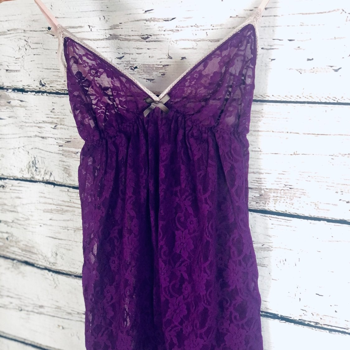 Gilligan & O'Malley Purple Lace Nightie