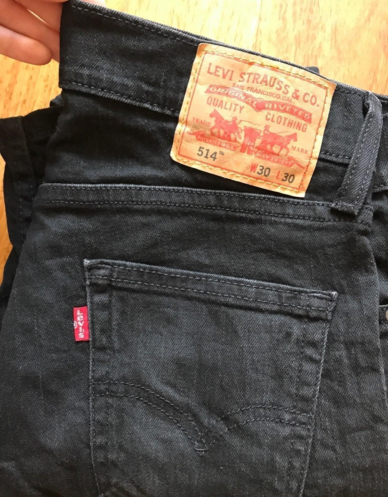 Levi's 514 Black Jeans