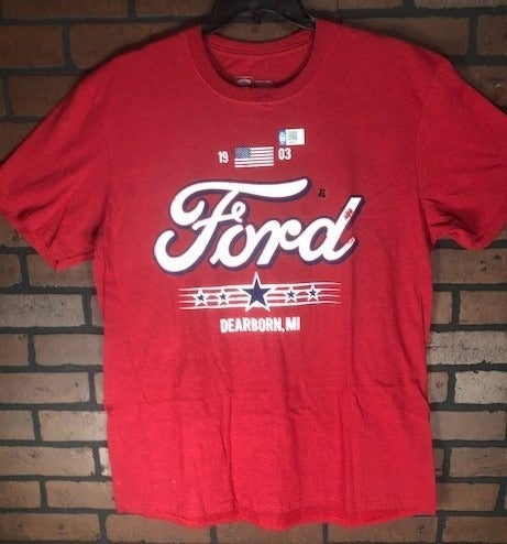 NEW Mens Red Ford T-Shirt Sz XL