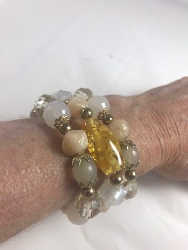 Three Strand Bracelet-Quality Beads