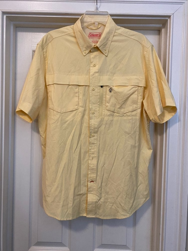 Coleman Large Yellow Fishing Hiking Shir