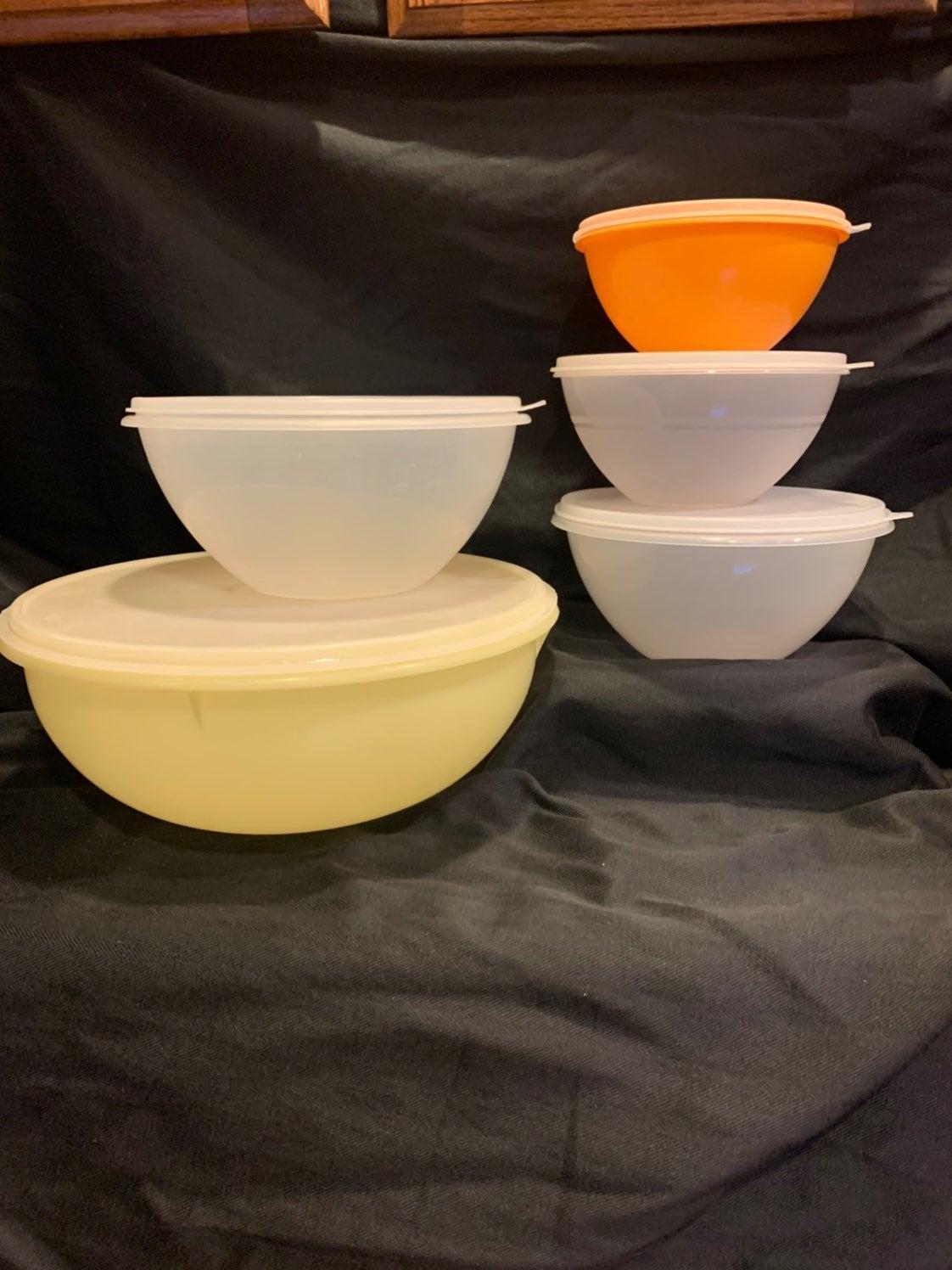 Vintage Tupperware Mixing Bowl Set