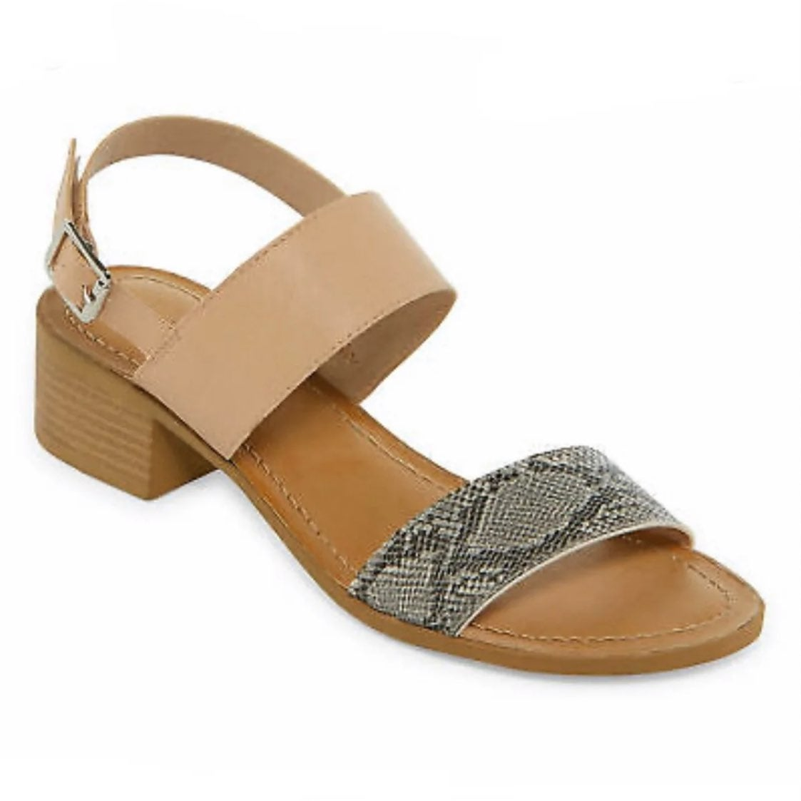 New womans a.n.a. Nude/snake sandals