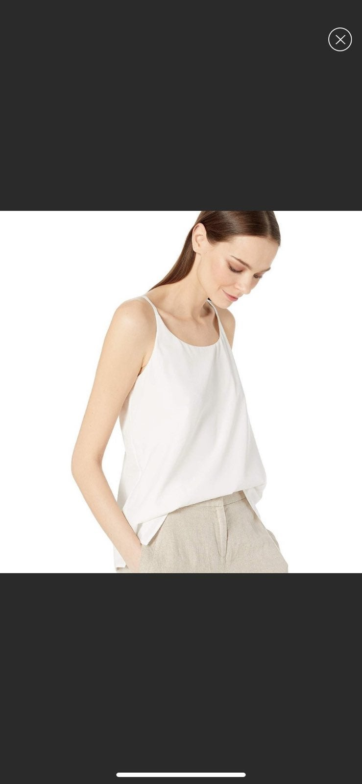 NWT Eileen Fisher Ivory Cami