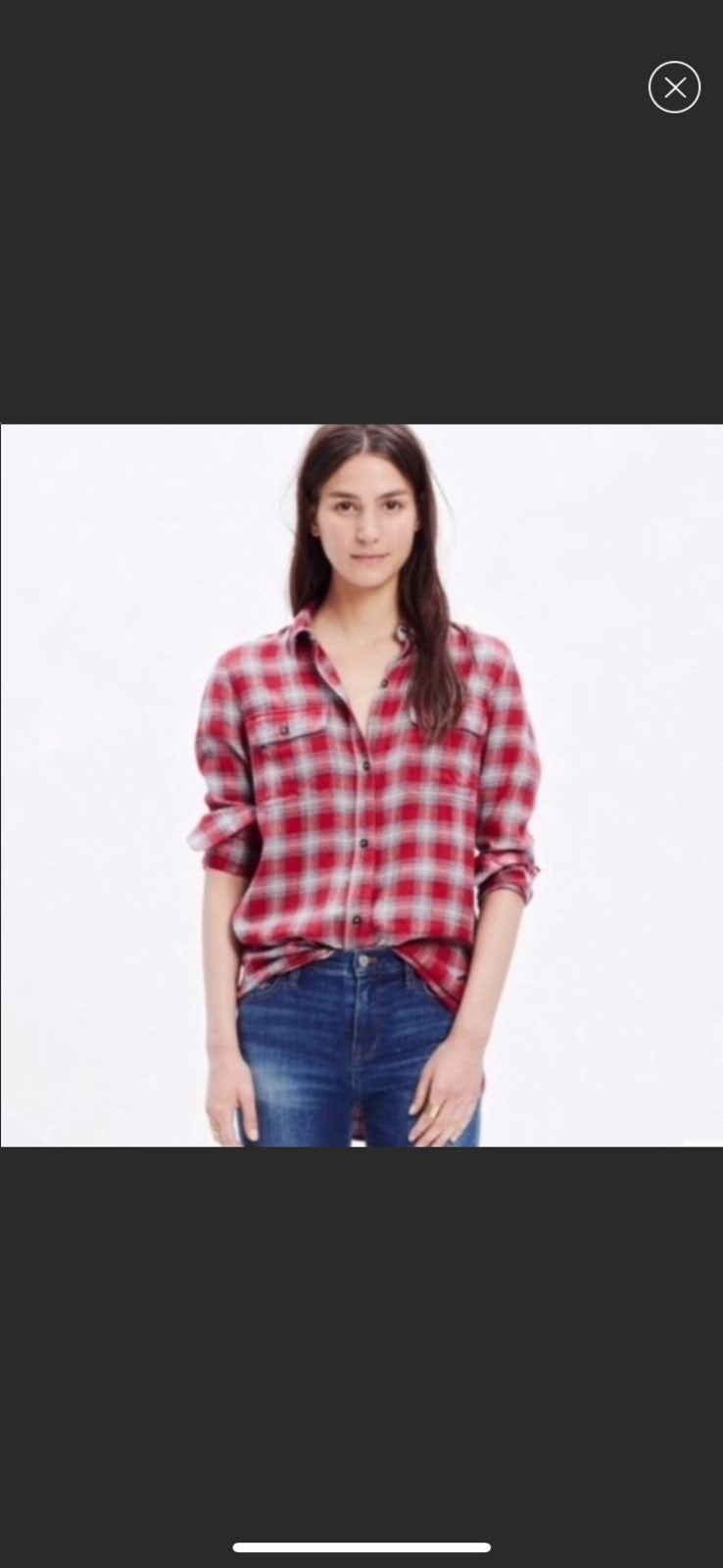 Madewell Red Plaid Button Down Size XS