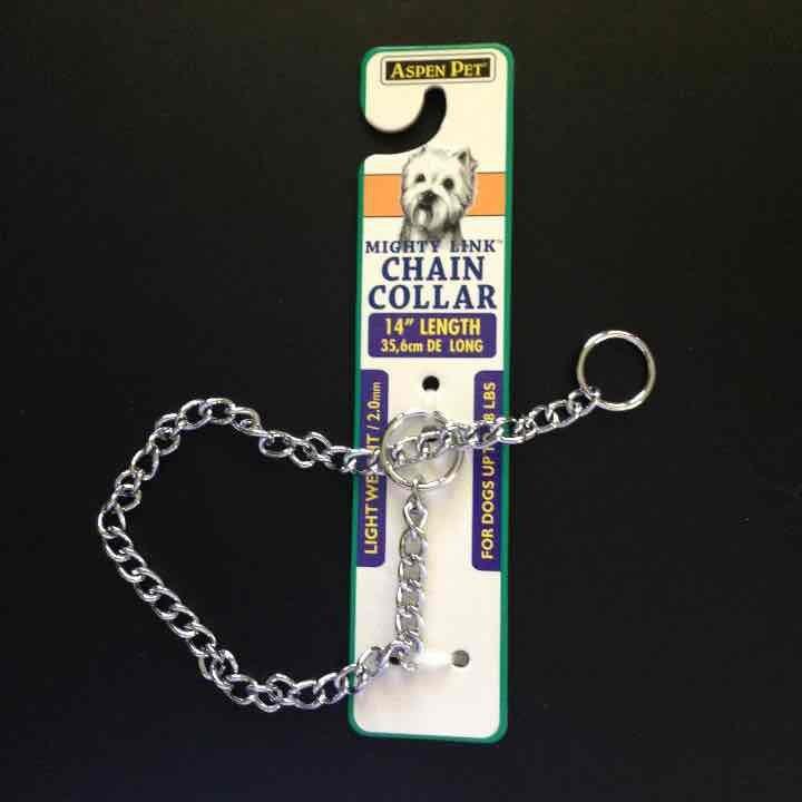 """Dog chain collar 14"""""""