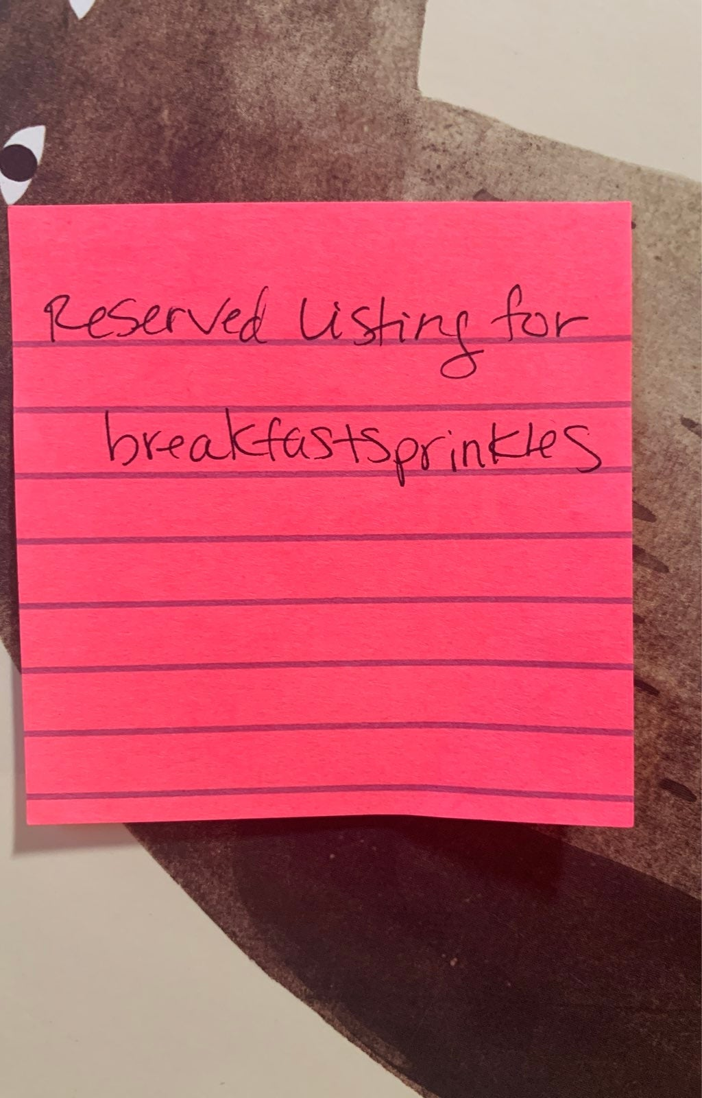 Reserved Listing for breakfastsprinkles