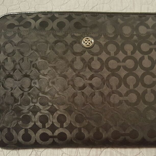 Black Coach IPad/laptop Case