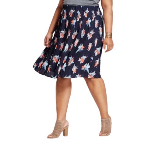 Tropical Floral Circle Flare Skirt