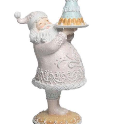 Pastel Gingerbread Candy Santa Claus
