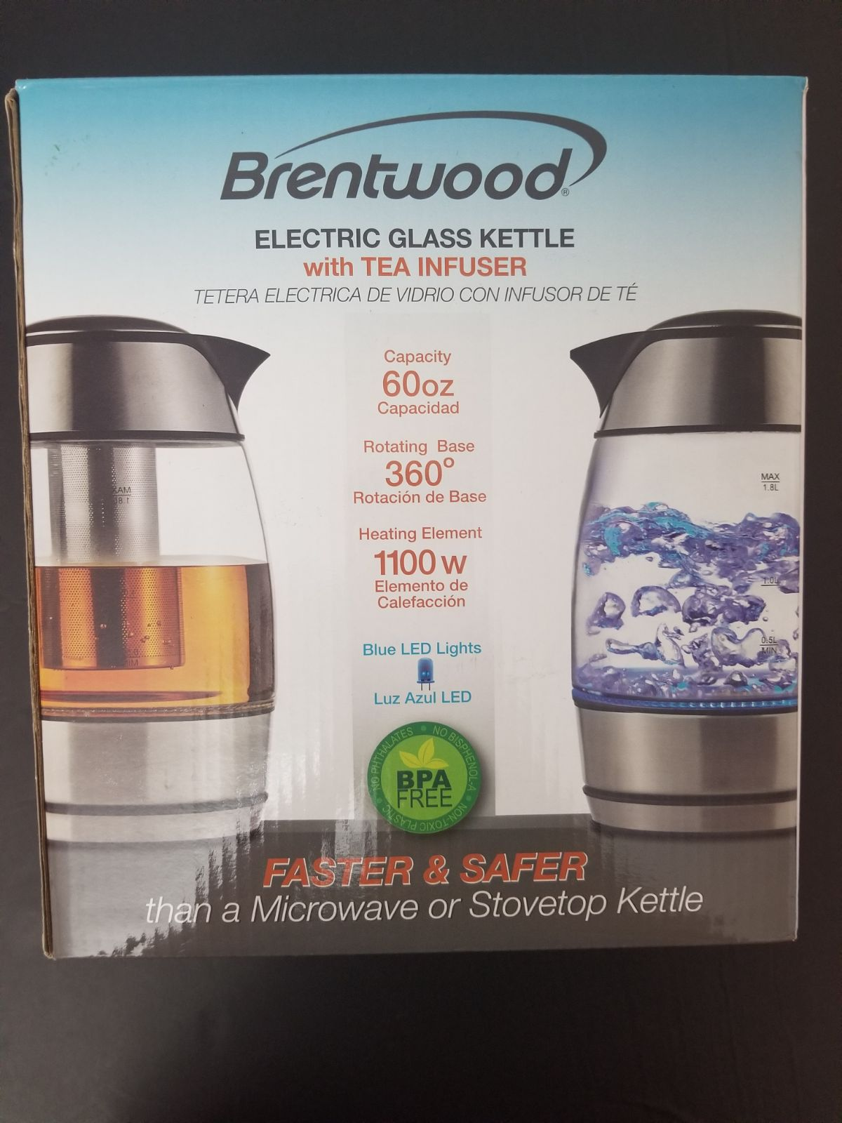 Brentwood Electric Glass Kettle