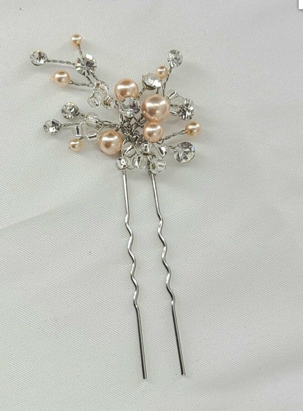 Pink Pearl Clusters & Swarovski Crystals